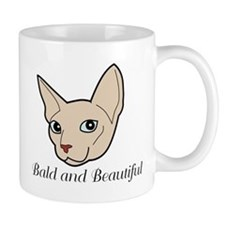 Baldy Cat Mugs