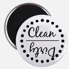 Black Clean Dirty Magnets