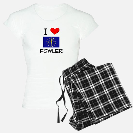 I Love FOWLER Indiana Pajamas