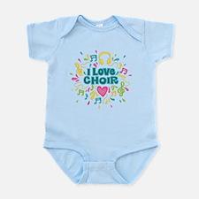 I Love Choir Music Infant Bodysuit