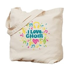 I Love Choir Music Tote Bag