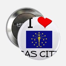"I Love GAS CITY Indiana 2.25"" Button"