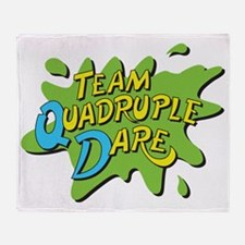 Team Quadruple Dare Throw Blanket