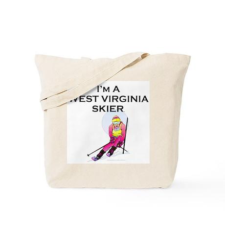 TOP West Virginia Skier Tote Bag