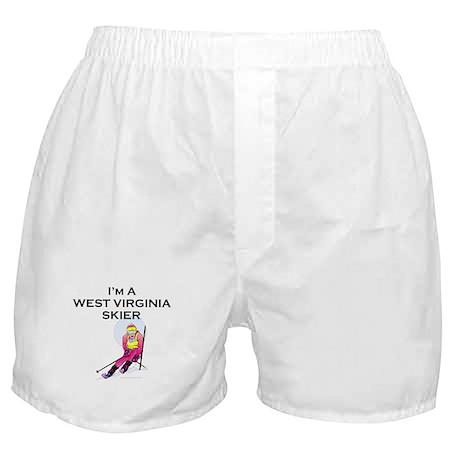 TOP West Virginia Skier Boxer Shorts