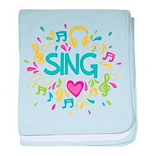 Sing Choir Music baby blanket
