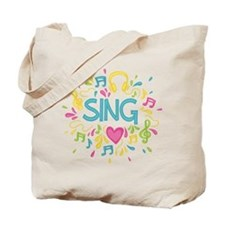Sing Choir Music Tote Bag