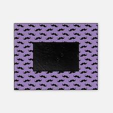 Mustache Design Purple and Black Picture Frame