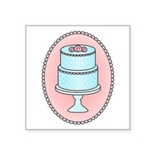 "Pretty Cake Square Sticker 3"" x 3"""