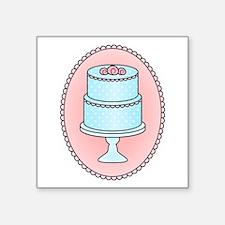 """Pretty Cake Square Sticker 3"""" x 3"""""""