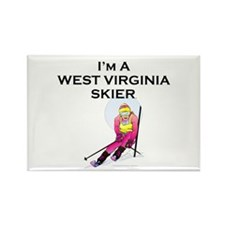TOP West Virginia Skier Rectangle Magnet