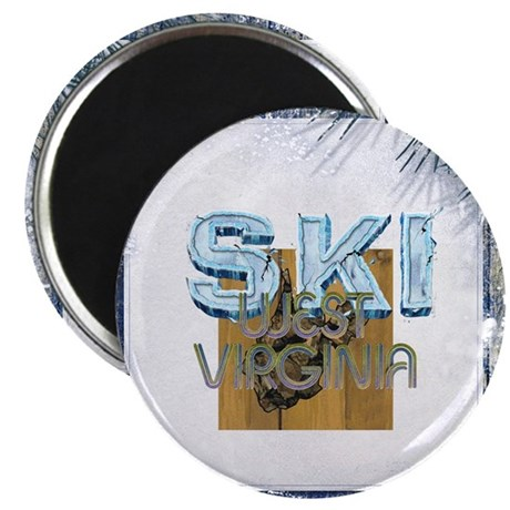 "TOP West Virginia Skier 2.25"" Magnet (10 pack)"