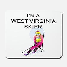 TOP West Virginia Skier Mousepad