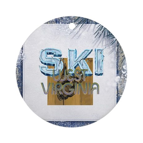 TOP West Virginia Skier Ornament (Round)