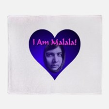 I Am Malala Throw Blanket