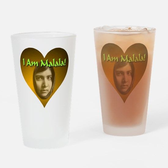 I Am Malala Drinking Glass