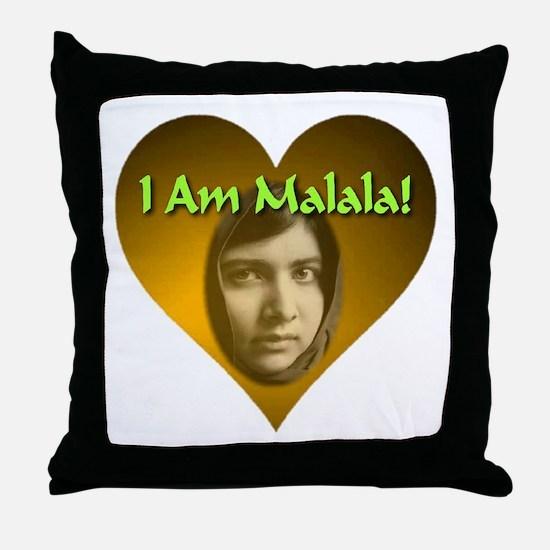 I Am Malala Throw Pillow
