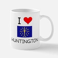 I Love HUNTINGTON Indiana Mugs