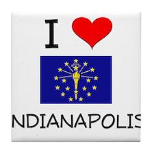 I Love INDIANAPOLIS Indiana Tile Coaster