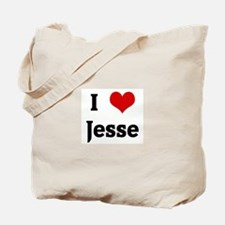 I Love Jesse Tote Bag
