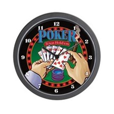 Poker Wall Clock