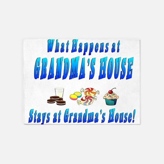 What Happens At Grandmas House 5'x7'Area Rug