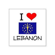 I Love LEBANON Indiana Sticker