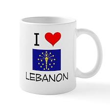I Love LEBANON Indiana Mugs
