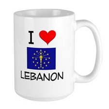 I Love LEBANON Indiana Mugs