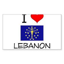 I Love LEBANON Indiana Decal