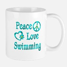 Peace Love Swimming Mug