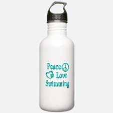 Peace Love Swimming Water Bottle