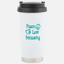 Peace Love Swimming Stainless Steel Travel Mug