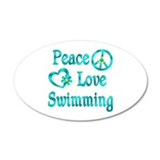 Peace Love Swimming Wall Decal