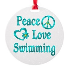 Peace Love Swimming Ornament