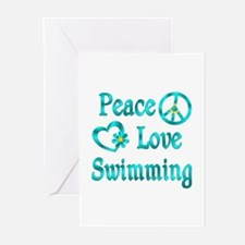 Peace Love Swimming Greeting Cards (Pk of 20)