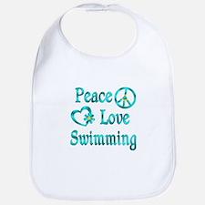 Peace Love Swimming Bib