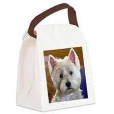 WESTIE ACCENTS Canvas Lunch Bag