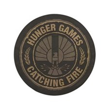 """Catching Fire Capitol Logo 3.5"""" Button"""