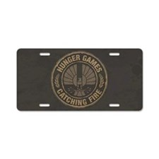Catching Fire Capitol Logo Aluminum License Plate