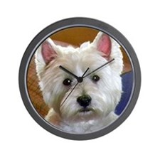 WESTIE ACCENTS Wall Clock