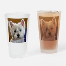 WESTIE ACCENTS Drinking Glass