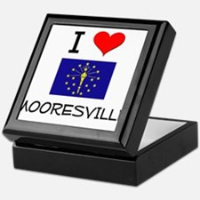 I Love MOORESVILLE Indiana Keepsake Box