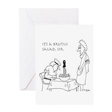 Brutus Salad Greeting Card