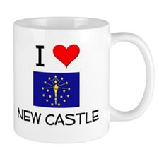 I Love NEW CASTLE Indiana Mugs