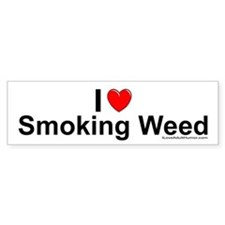 Smoking Weed Bumper Sticker