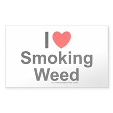 Smoking Weed Decal