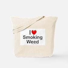 Smoking Weed Tote Bag