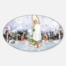 Dancing On Ice Sticker (Oval)