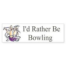 Id Rather Be Bowling Bumper Bumper Sticker